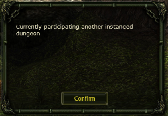 Currently participating another instanced dungeon